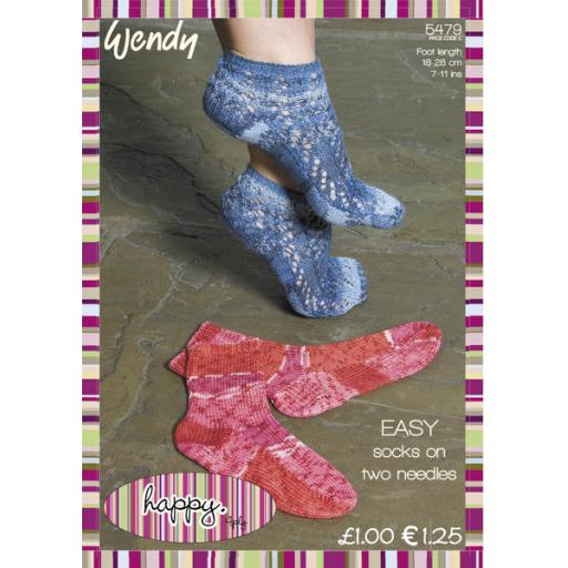 Wendy 5479:Easy Socks on 2 needles