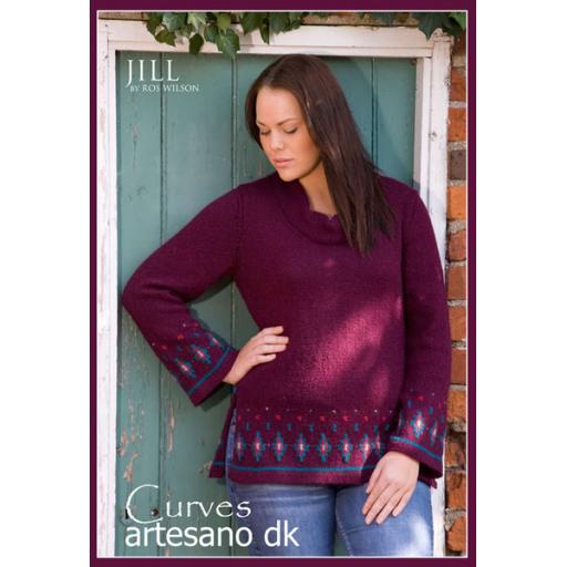 Artesano CC009: Cowl necked tunic style jumper