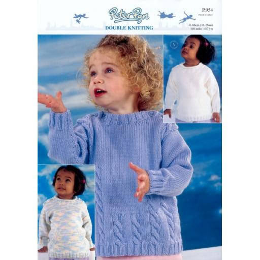 Wendy Peter Pan P954: Childs sweaters in DK