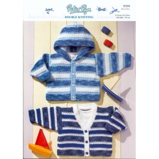 Wendy Peter Pan P959: Children's hoodie or V-necked cardigan