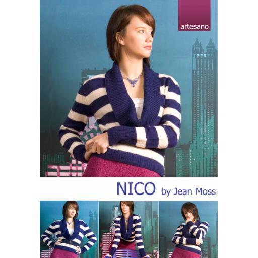 Artesano IC011: Cowl necked striped jumper