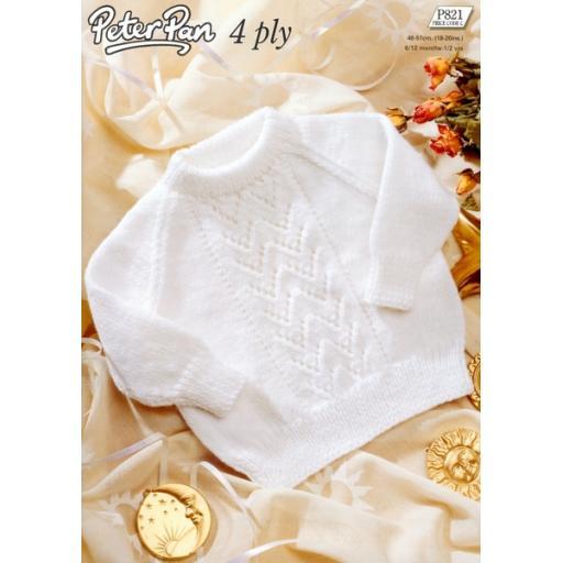 Wendy Peter Pan P821: Baby raglan sweater