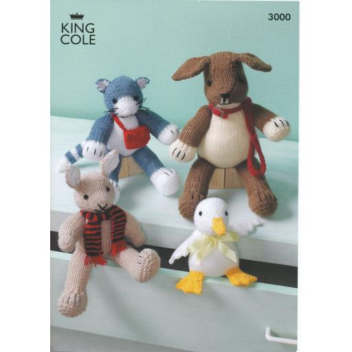 King Cole 3000: Patterns for a toy dog, cat, rabbit and duck