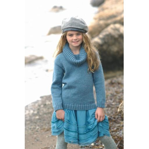 Sirdar 2233: Cowl necked jumper with long dress/tunic