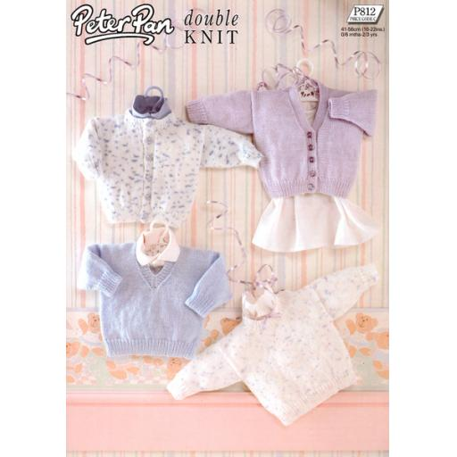 Wendy Peter Pan P812: Baby sweaters and cardigans