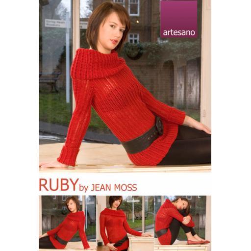 Artesano : Rolled neck lacy rib tunic