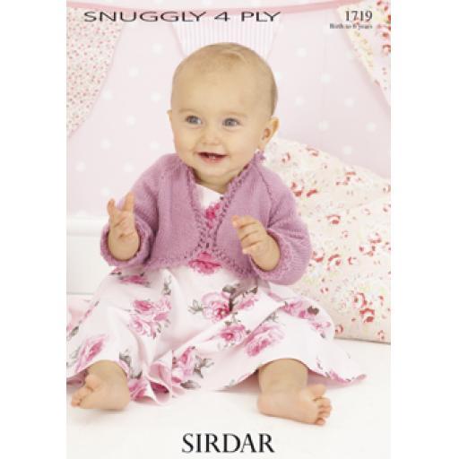 Sirdar 1719: Bolero-style cardigan with lacy edging