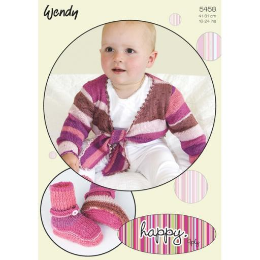 Wendy 5458:Baby tie-fronted cardigan
