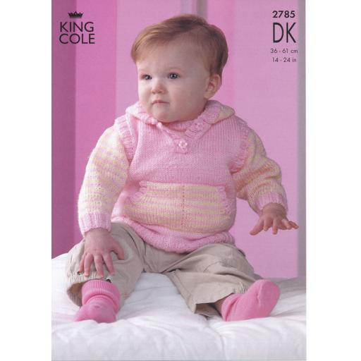 King Cole 2785: Jumper and cardigan