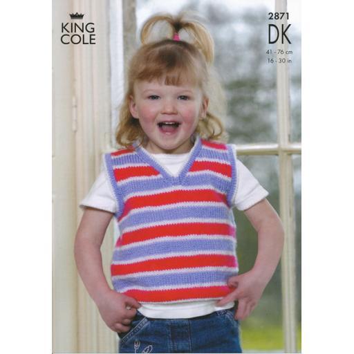 King Cole 2871: Child's vest