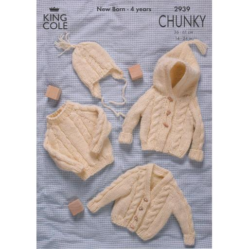 King Cole 2939: Cable knits for babies