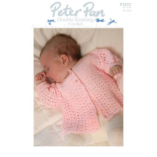 Wendy Peter Pan P1022:Crochet baby matinee jacket