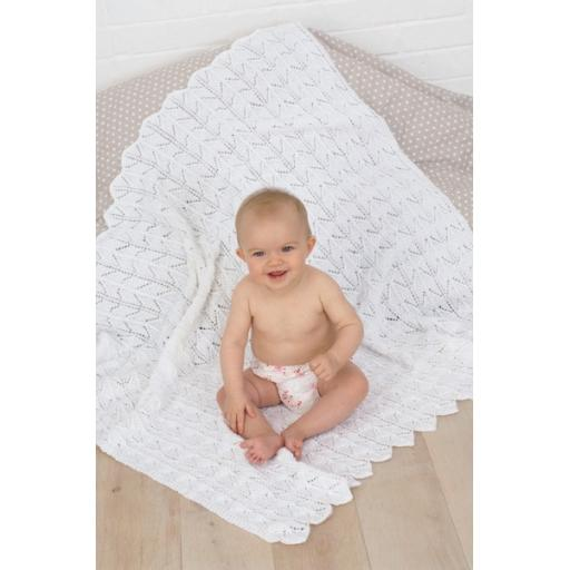 Sirdar 1710: Lacy baby blanket and shawl