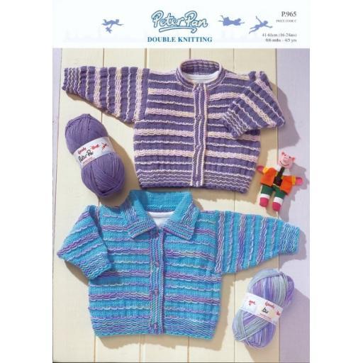 Wendy Peter Pan P965:Textured baby cardigans