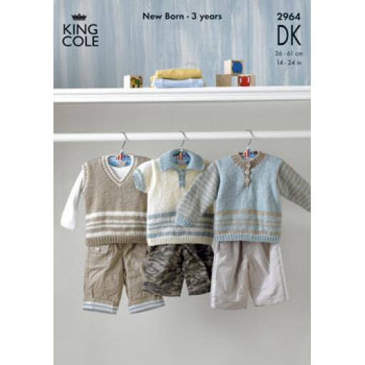 King Cole 2964: Set of vest and jumpers