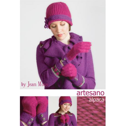 Artesano IC006: Hat and gloves pattern with contrasting edging