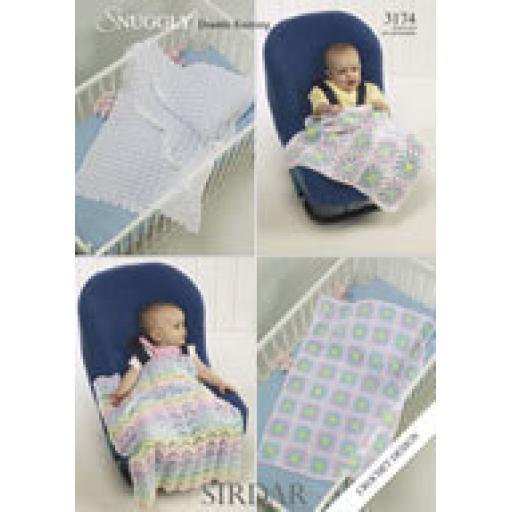 Sirdar 3174: Shawls and car seat blankets