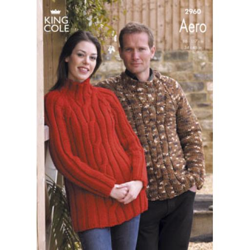 King Cole 2960: Chunky cabled sweater