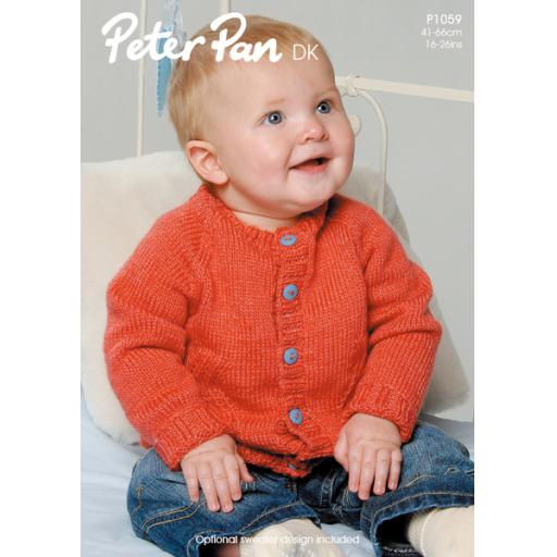 Wendy Peter Pan P1059: Baby cardigan with chevron detail