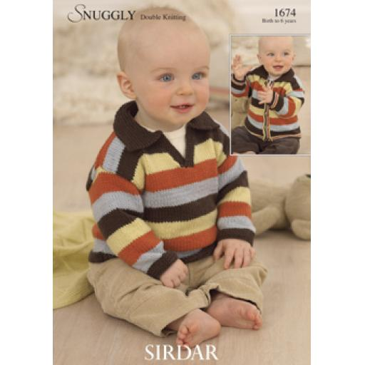 Sirdar 1674: Striped jumper or cardigan