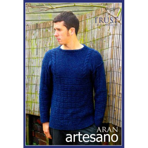 Artesano AA012: Textured jumper with cable details