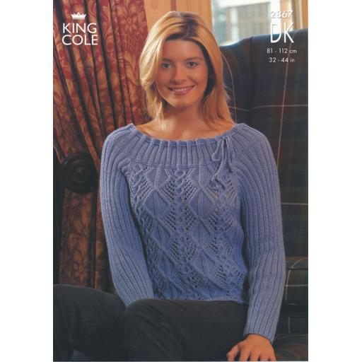 King Cole 2867: Two ribbed jumpers