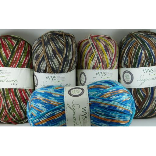 West Yorkshire Spinners Signature 4ply Sock Prints